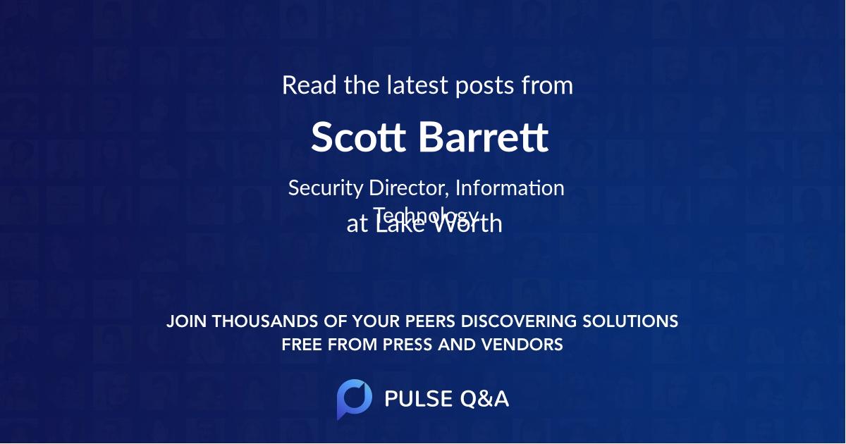 Scott Barrett