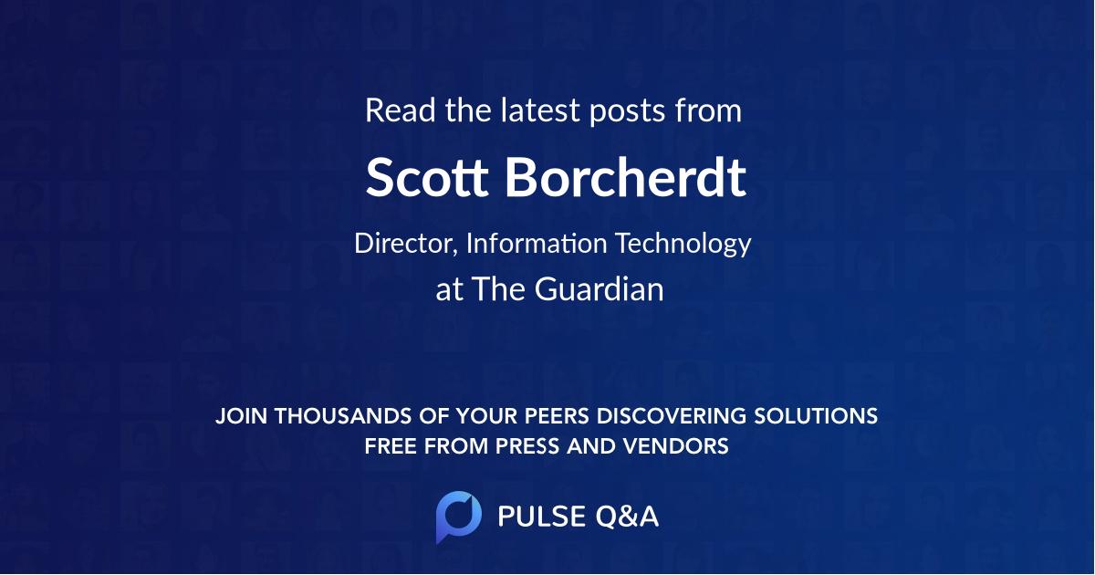 Scott Borcherdt