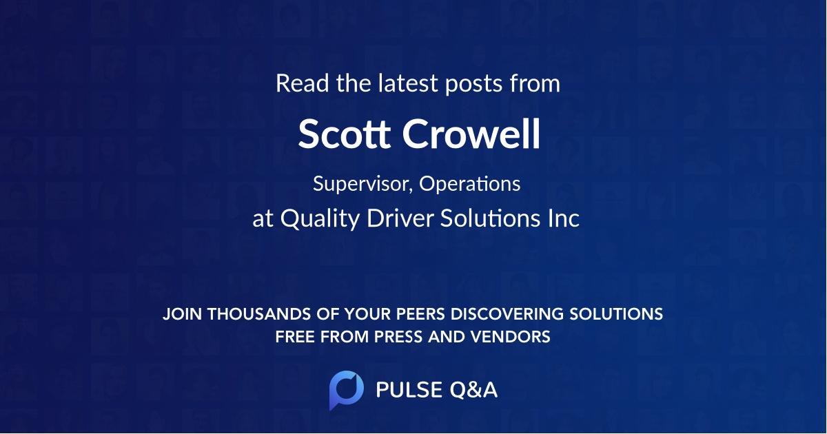 Scott Crowell