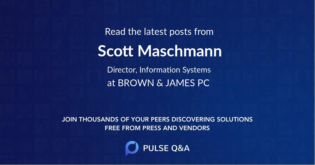 Scott Maschmann