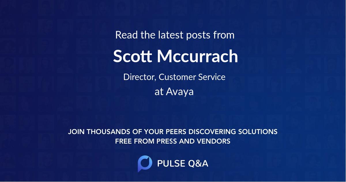 Scott Mccurrach