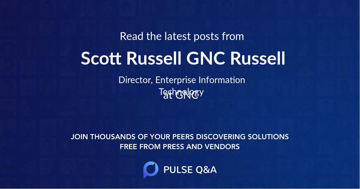 Scott Russell. GNC Russell