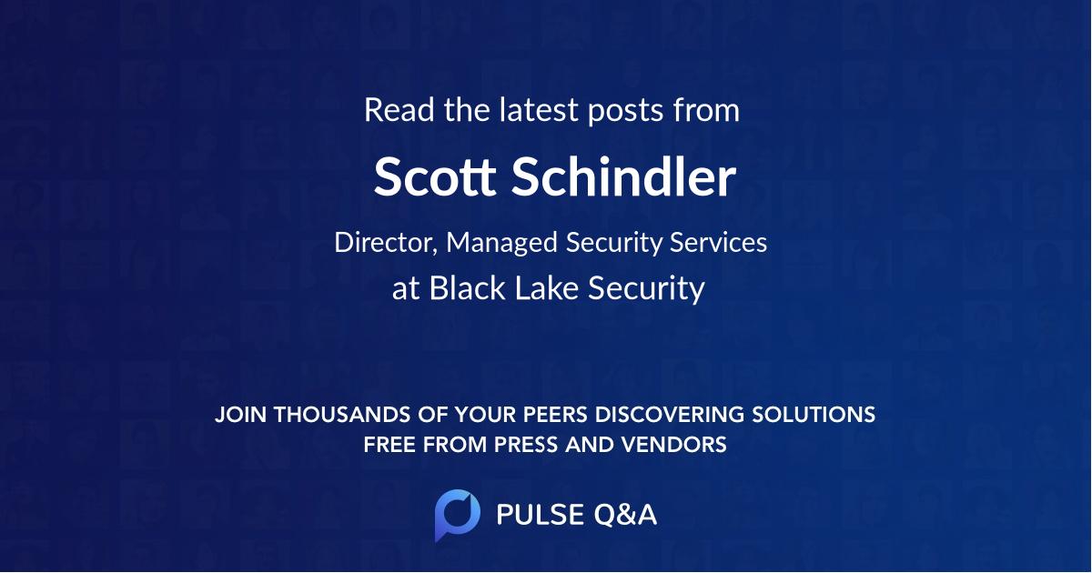 Scott Schindler
