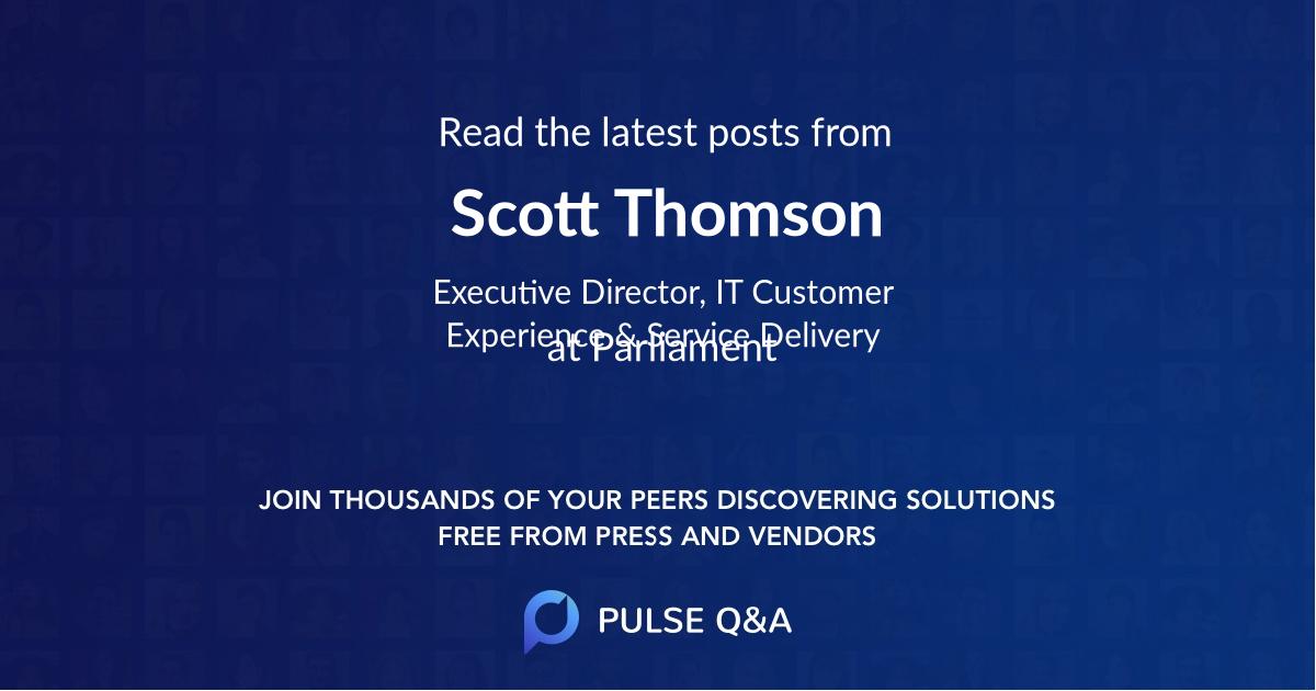 Scott Thomson