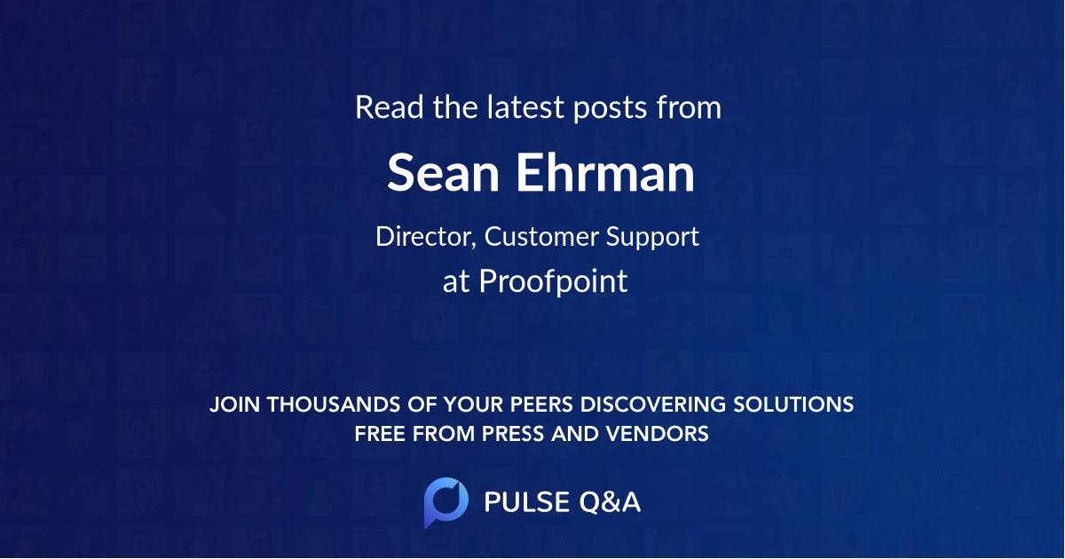 Sean Ehrman