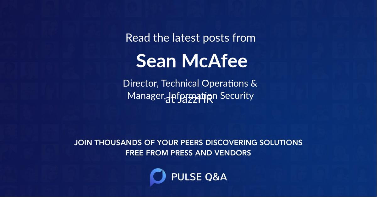 Sean McAfee