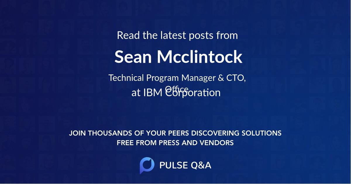Sean Mcclintock