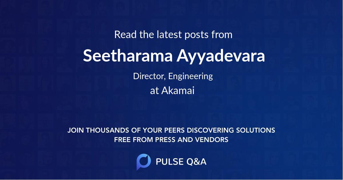 Seetharama Ayyadevara