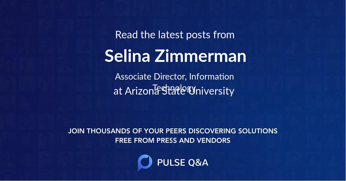 Selina Zimmerman