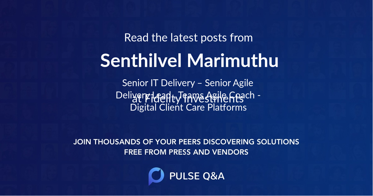 Senthilvel Marimuthu
