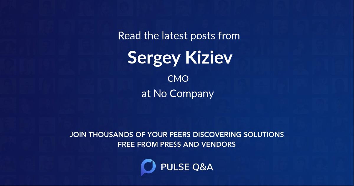 Sergey Kiziev
