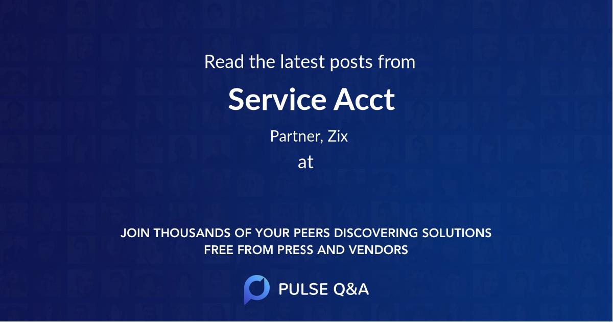 Service Acct