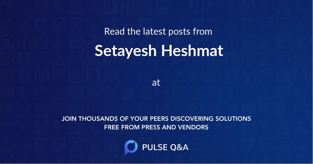 Setayesh Heshmat