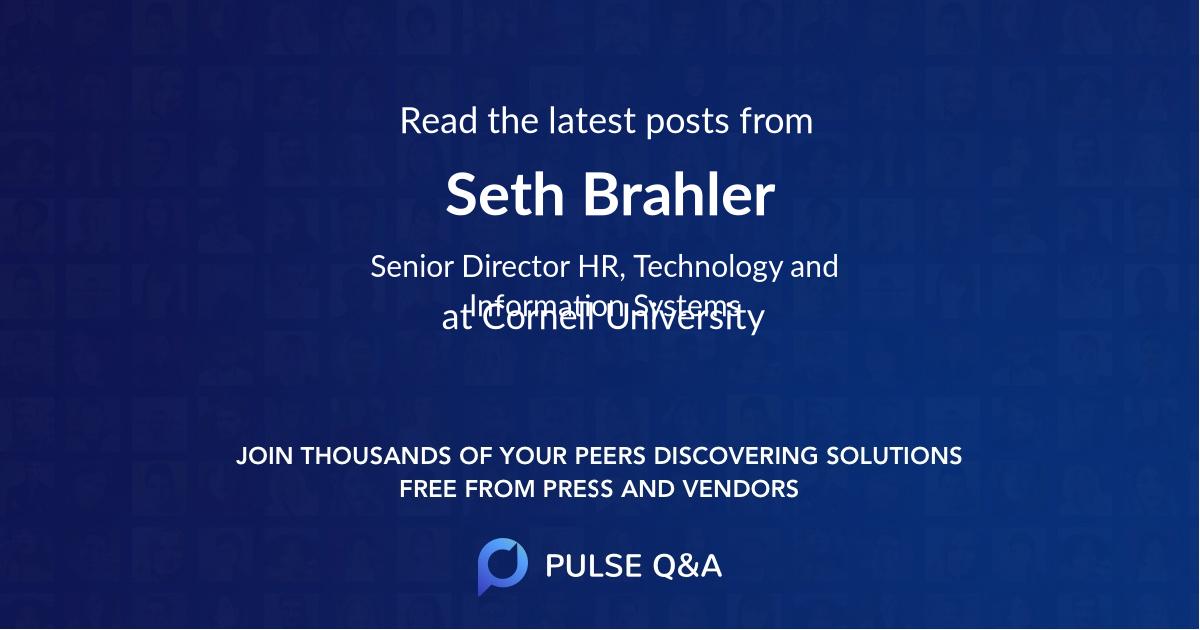 Seth Brahler