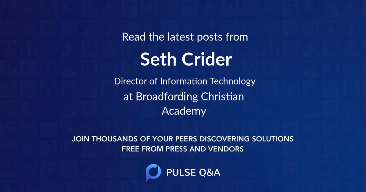 Seth Crider