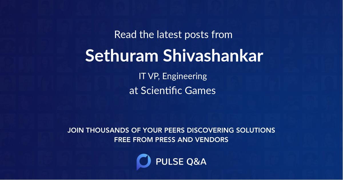 Sethuram Shivashankar