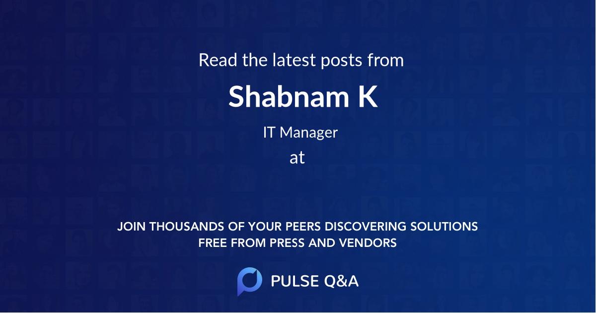 Shabnam K