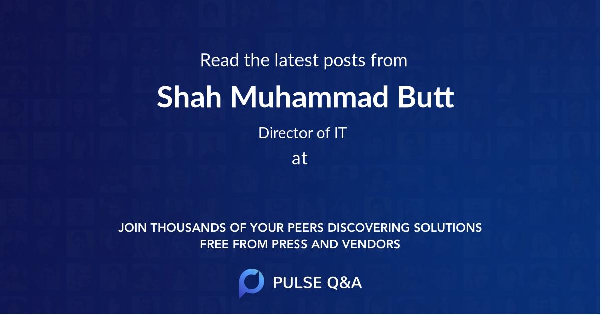 Shah Muhammad Butt