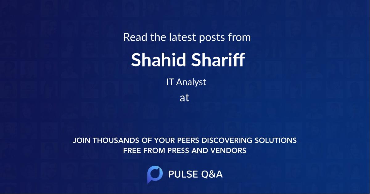 Shahid Shariff