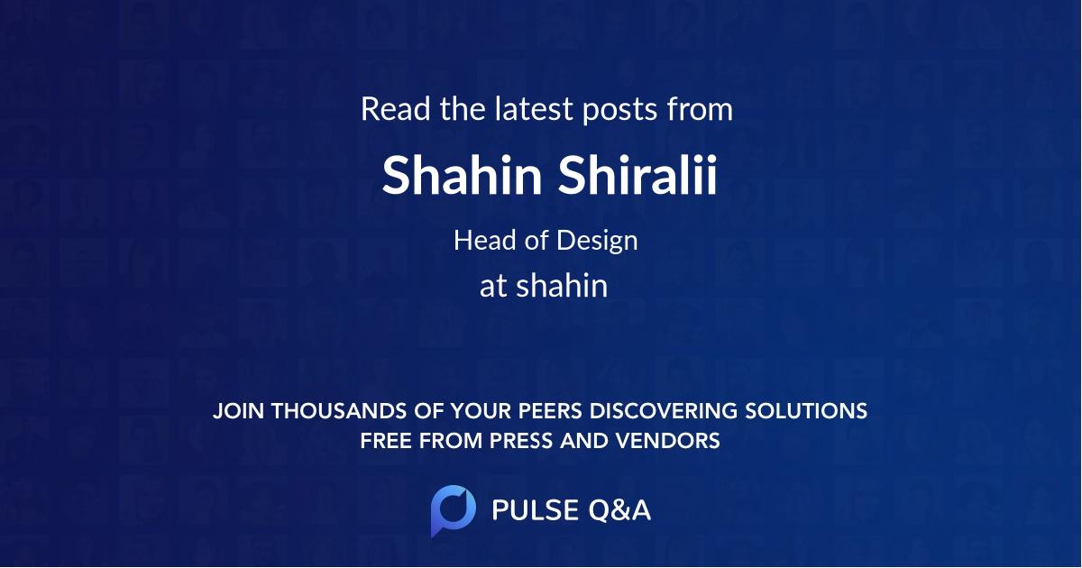 Shahin Shiralii