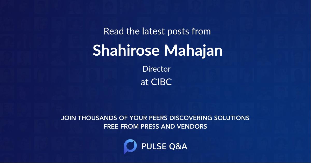 Shahirose Mahajan