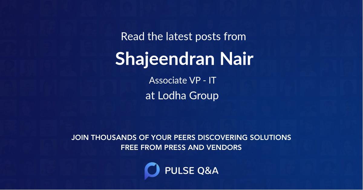 Shajeendran Nair