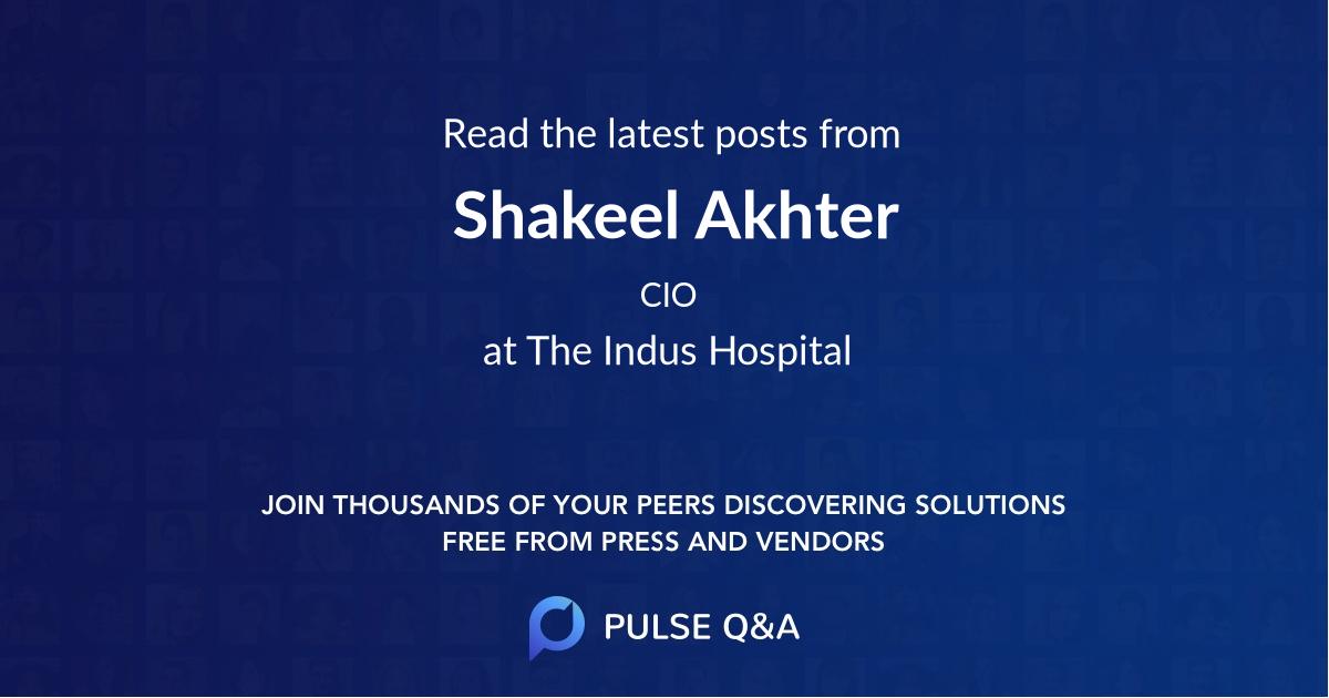 Shakeel Akhter