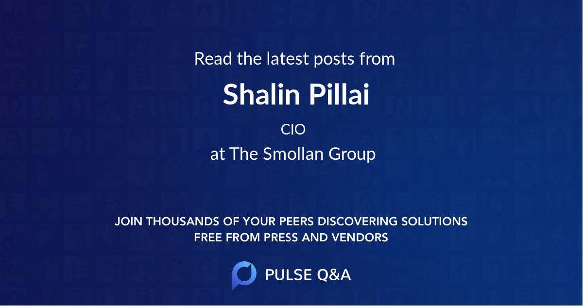 Shalin Pillai