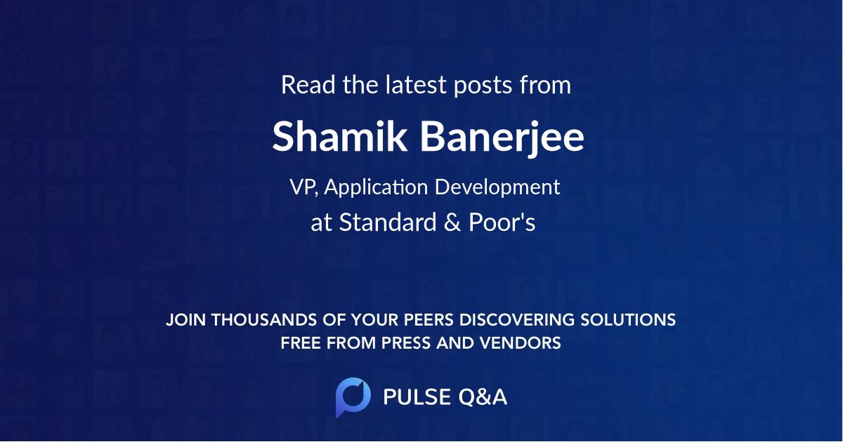 Shamik Banerjee