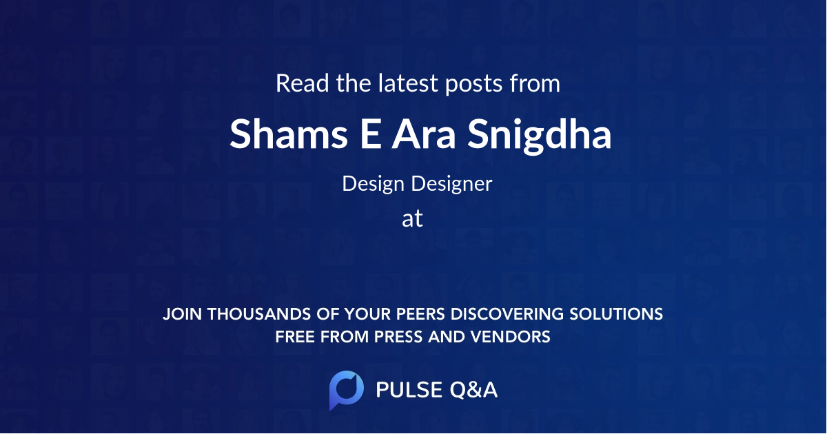 Shams E. Ara Snigdha