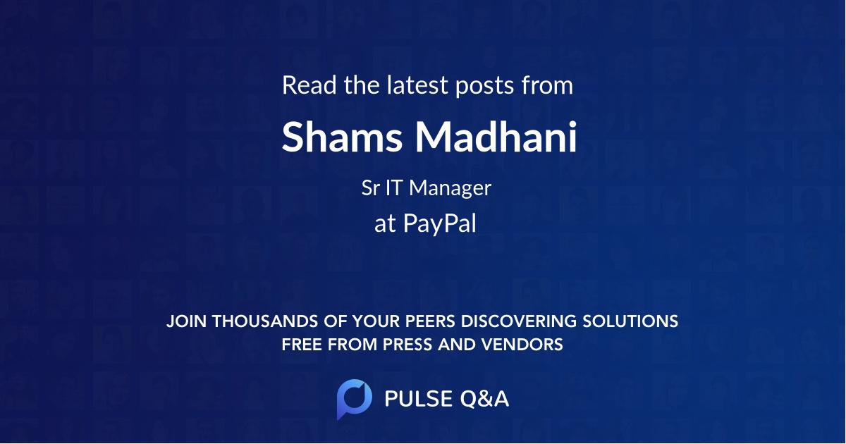 Shams Madhani