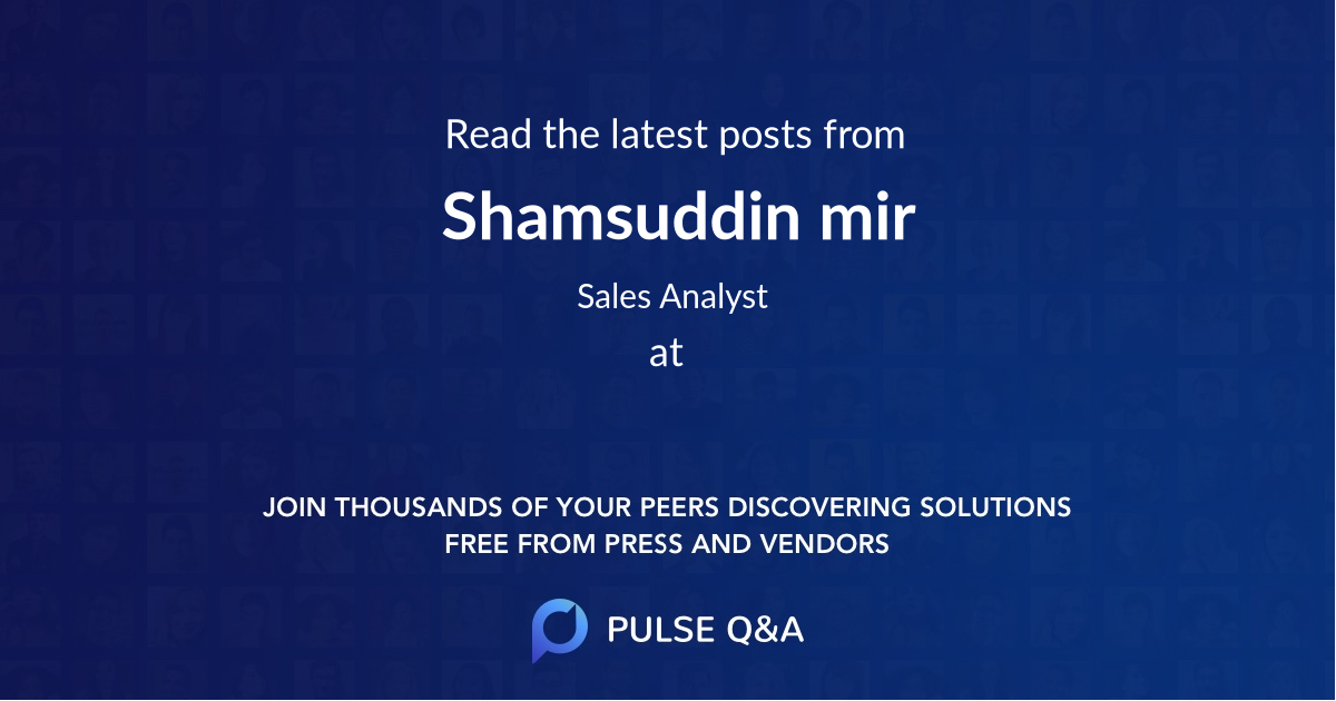 Shamsuddin mir