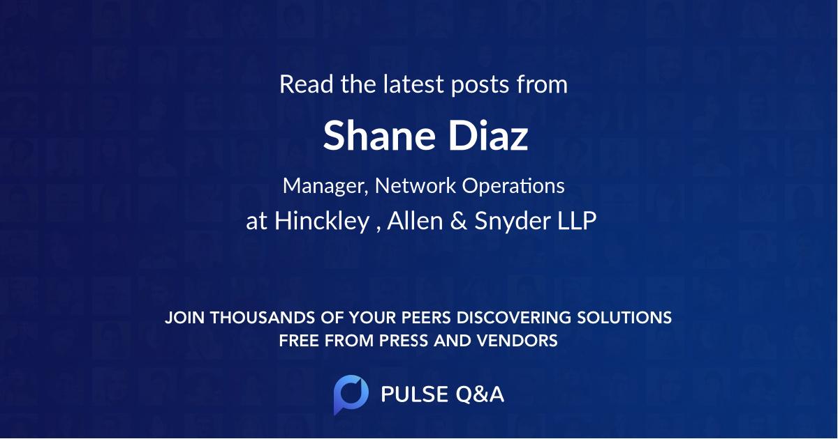 Shane Diaz