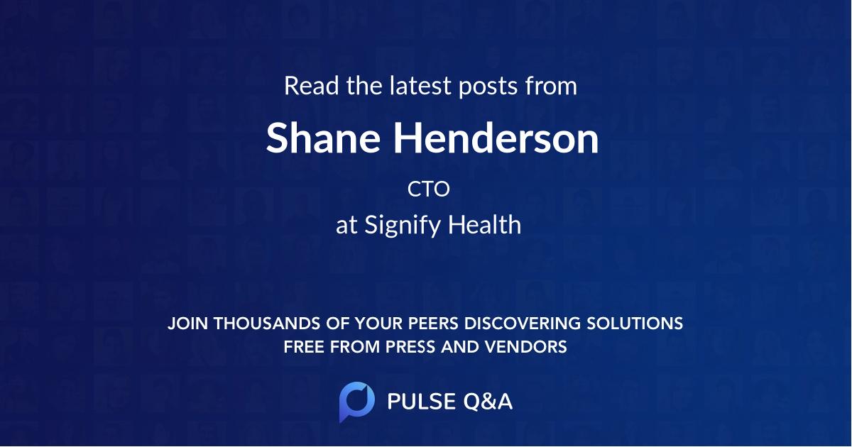 Shane Henderson