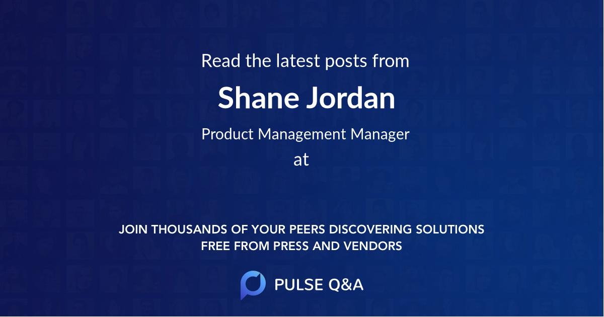 Shane Jordan