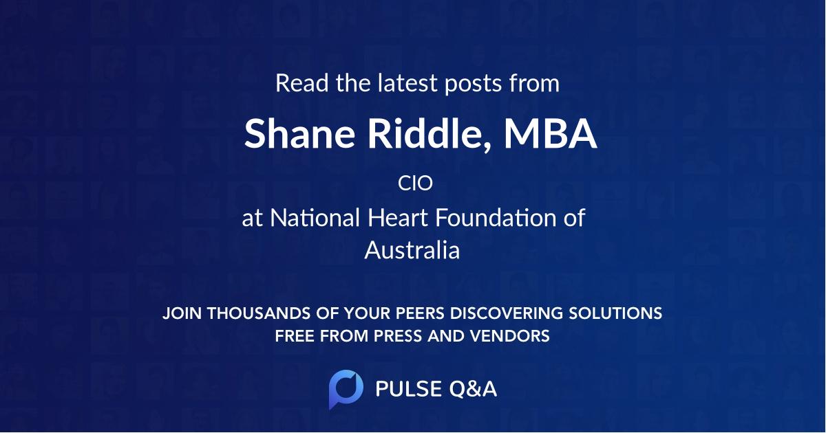 Shane Riddle, MBA