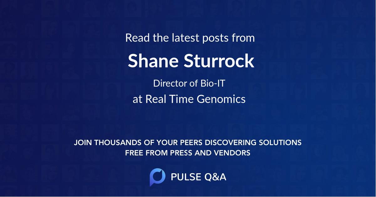 Shane Sturrock