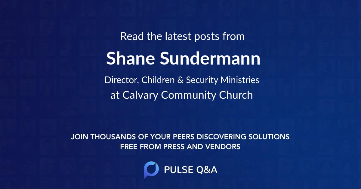 Shane Sundermann