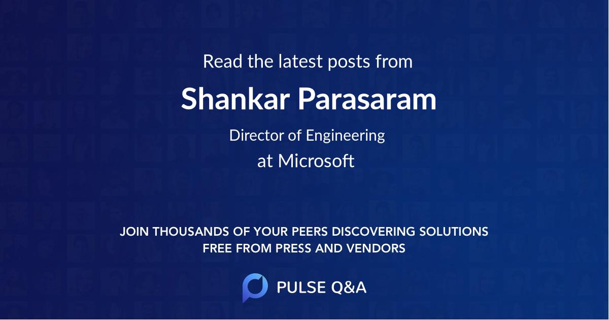 Shankar Parasaram