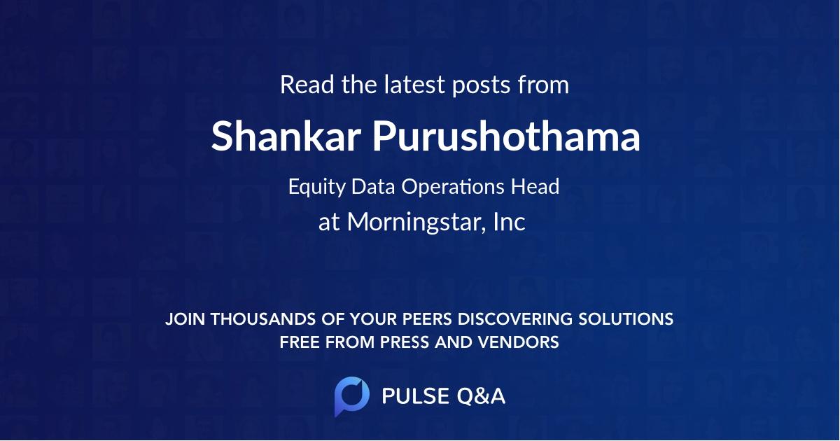 Shankar Purushothama