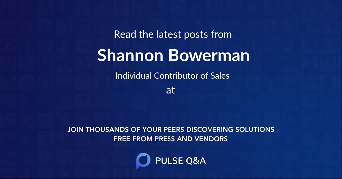 Shannon Bowerman