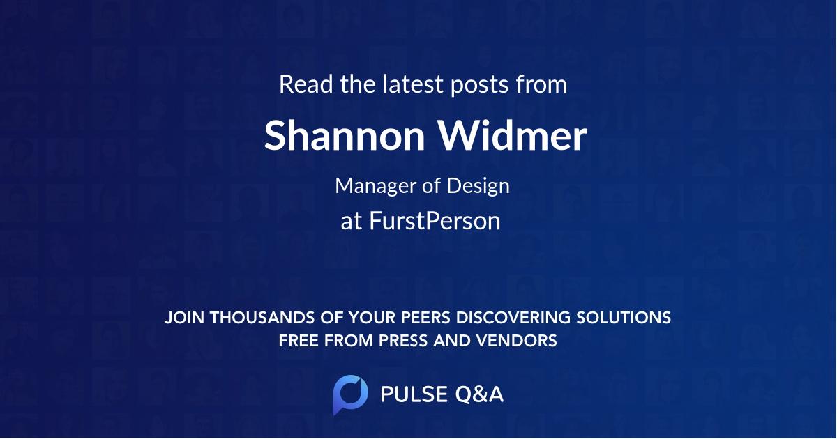 Shannon Widmer