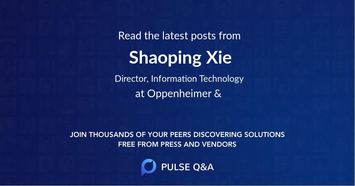 Shaoping Xie