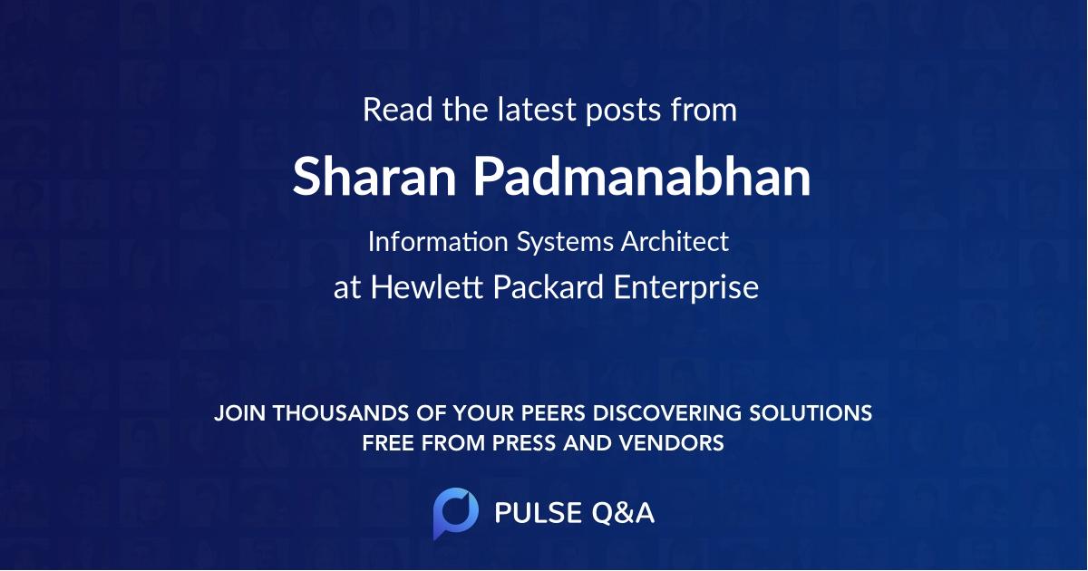 Sharan Padmanabhan