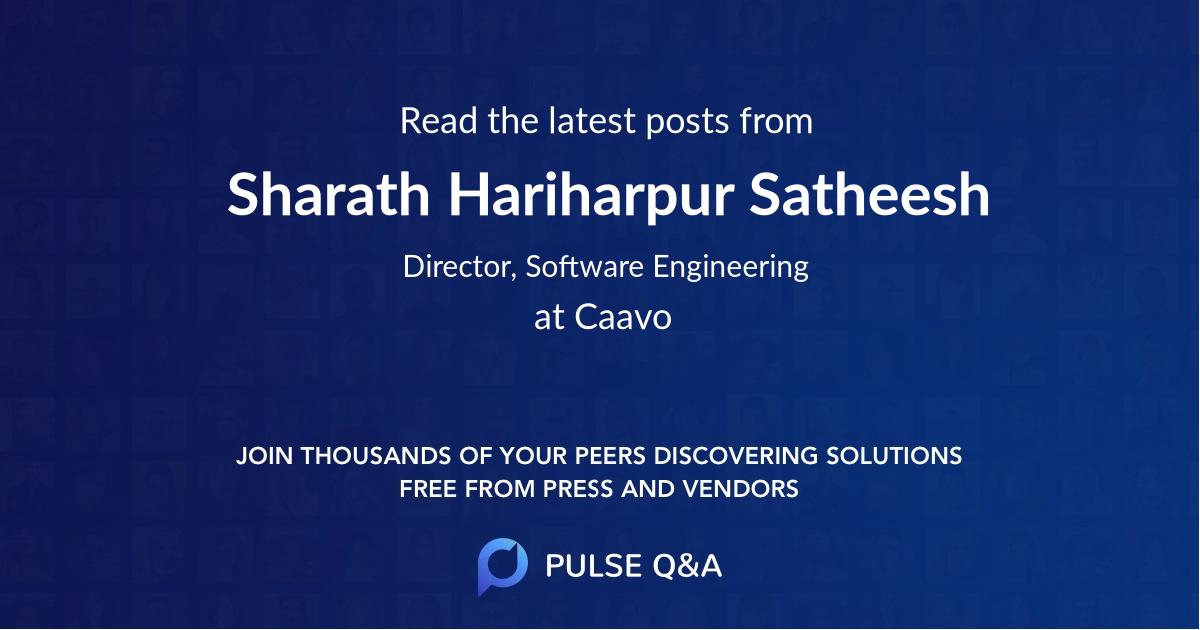 Sharath Hariharpur Satheesh