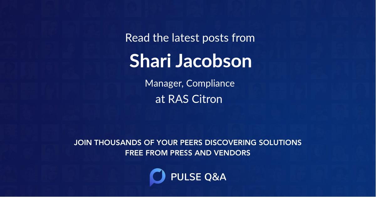 Shari Jacobson