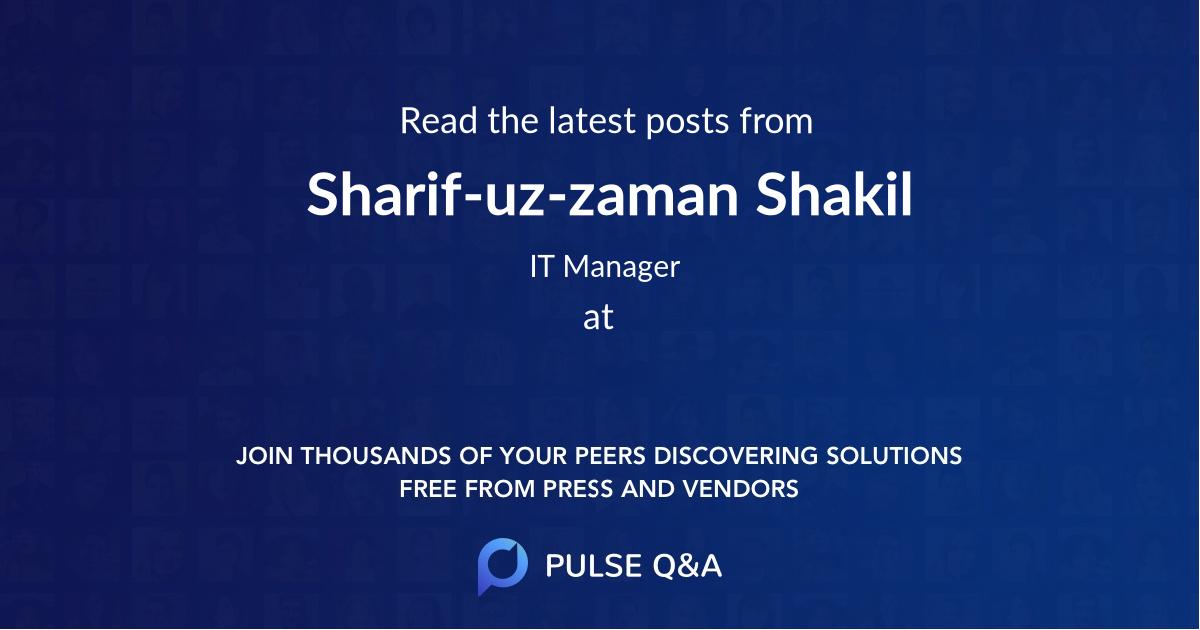 Sharif-uz-zaman Shakil