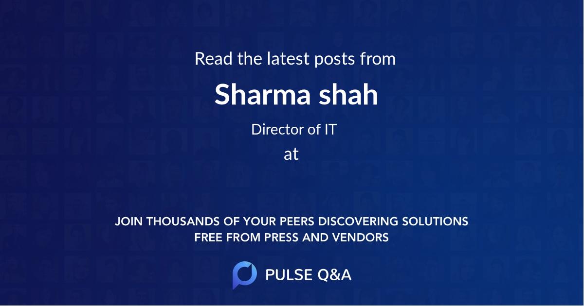 Sharma shah