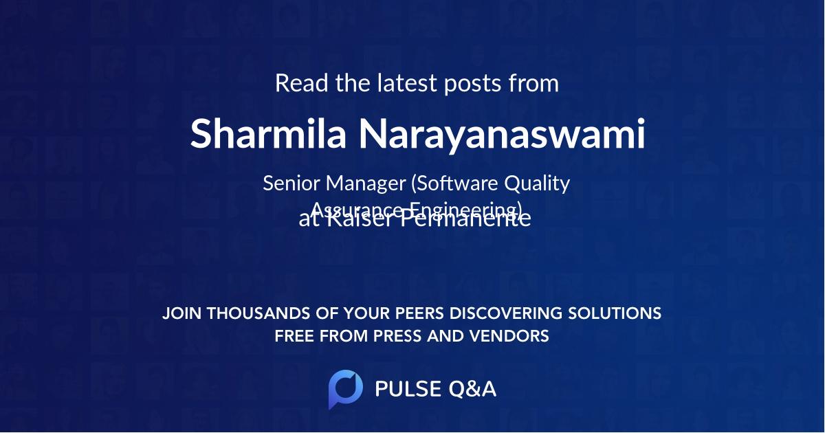 Sharmila Narayanaswami