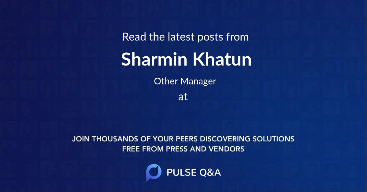 Sharmin Khatun